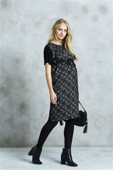Print Shift Dress (Maternity)