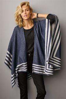 Navy Stripe Hem Cover Up