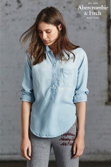 Denim Abercrombie & Fitch Denim Half Placket Shirt