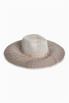 Grey Ombre Floppy Fedora Hat