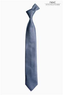 Blue Italian Silk Weave Tie