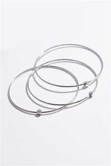 Platinum Plated Nugget Bangles