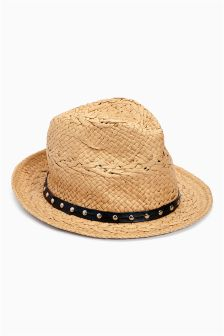 Natural Straw Trilby