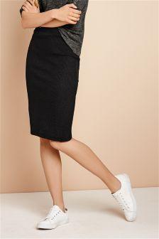 Black Rib Tube Skirt