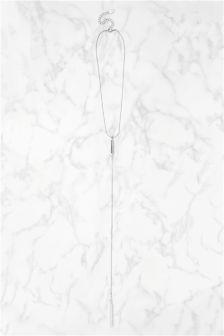 Silver Tone Delicate Drop Detail Necklace