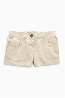 Oatmeal Linen Blend Shorts (3mths-6yrs)
