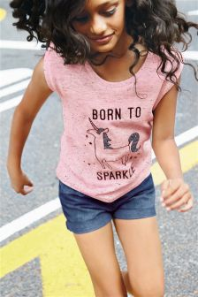 Pink Born To Sparkle T-Shirt (3-16yrs)