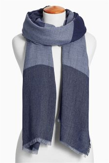 Denim Stripe Scarf