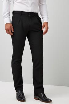 Twin Pleat Regular Fit Trousers