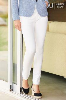 Denim White Armani Jeans Skinny Jean