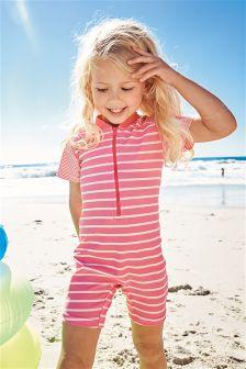 Pink Stripe Sunsafe Suit (3mths-6yrs)