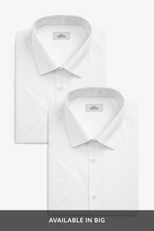 White Plain Shirts Two Pack