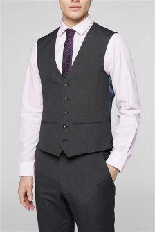 Charcoal Grey Suit: Waistcoat