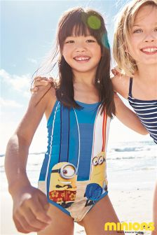 Blue Minions Swimsuit (3-12yrs)