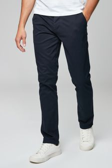 Men's chino pants are super easy to wear. The relaxed fit is comfortable, so you can stay on the move. Try pairing some Slim Chambray Trim Tough Stretch+ Chinos with a Stretch Pique Polo.