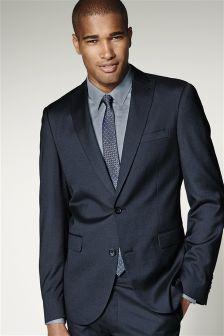 Blue Shiny Slim Fit Suit