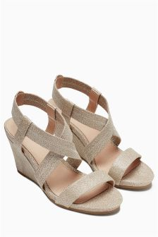 Forever Comfort Elastic Wedge Sandals