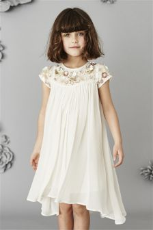 Ivory Jewel Bridesmaid Dress (3-16yrs)
