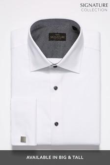 Signature White Textured Shirt