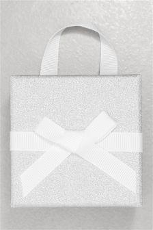 Silver Small Glitter Gift Box