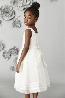 Ivory Sash Bridesmaid Dress (3mths-16yrs)