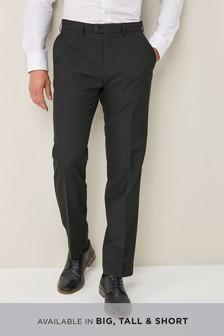Plain Front Regular Fit Trousers