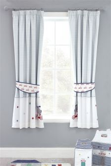 Toodle Pip Cotton Blackout Pencil Pleat Curtains