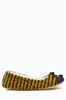 Black Bee Character Ballerina Slippers