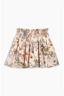 Pink Floral Flippy Skirt (3-16yrs)