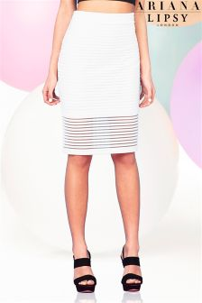 Ariana Grande For Lipsy Thick Thin Pencil Skirt