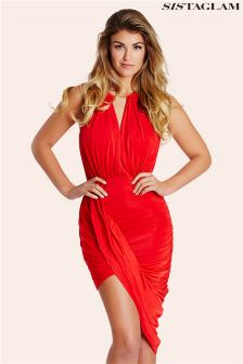 Sistaglam Cheryl Draped Grecian Dress