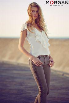 Morgan Lace Up Detail Jeans