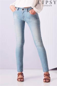 Lipsy Light Wash Denim Skinny Jeans
