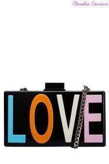 Claudia Canova Love Perspex Clutch Bag