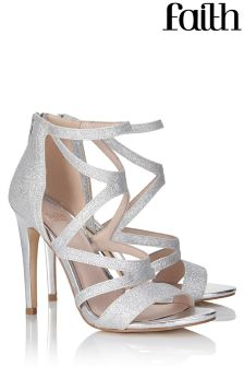Faith Caged Strappy Shimmer Sandal