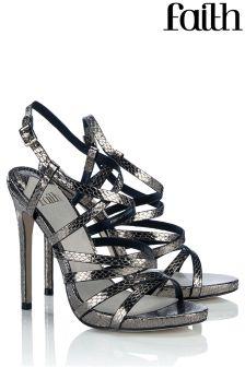Faith Strappy High Heeled Sandals