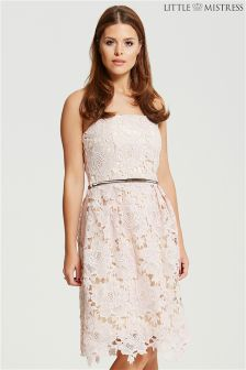 Little Mistress Crochet Bandeau Prom Dress