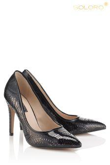Soloro Laser Cut Court Shoes