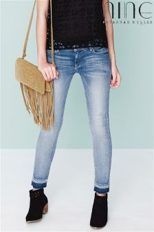 Nine By Savannah Miller Frayed Hem Jeans