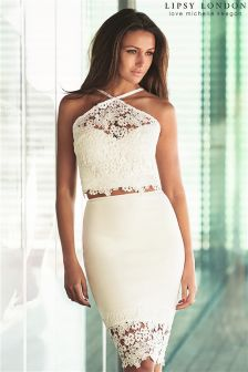Lipsy Love Michelle Keegan Lace Co-ord Pencil Skirt