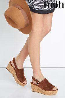 Faith Cork Flatform Sandal