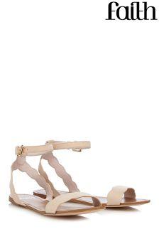 Faith Scallop Flat Sandals
