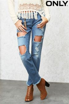 Only Ripped Slim Jeans