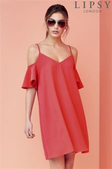 Lipsy Ruffle Off Shoulder Cami Dress