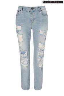 Noisy May Light Wash Denim Ripped Jeans