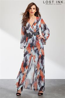 Lost Ink Printed Maxi Dress