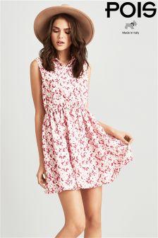 Pois Cherry Printed Shirt Dress