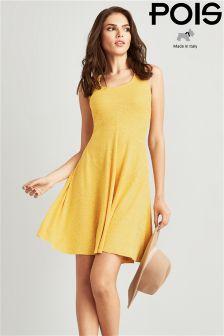 Pois Jacquard Summer Dress