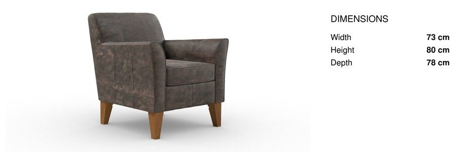 buy alfie leather chair 1 seat columbia dark natural high tapered