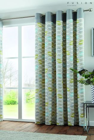 Buy curtains and blinds Curtains Teal Geometric from the Next UK ...